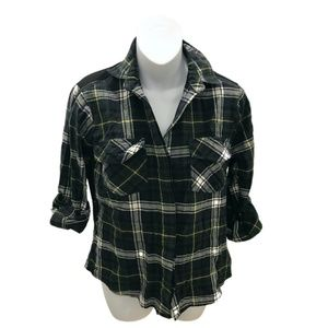 Sam Edelman Long Sleeve Flannel Button Down Shirt